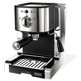 BEEM Germany Espresso Perfect Ultimate, Espresso-Siebträgermaschine mit 20 bar, Silber - 1
