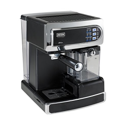 BEEM Germany i-Joy Café Ultimate, Espresso-Siebträgermaschine mit 20 bar mit integriertem Milchaufschäumer, chrom-schwarz - 1